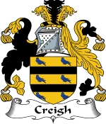 Creigh Family Crest / Creigh Coat of Arms JPG Download