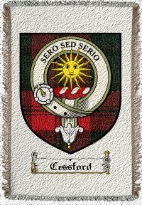 Cessford Clan Badge Throw Blanket