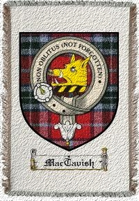 Mactavish Clan Mactavish Clan Badge Throw Blanket