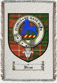 Brus Clan Badge Throw Blanket