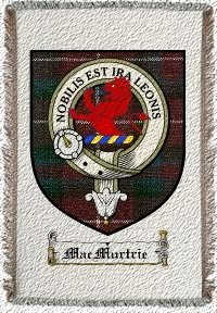 Macmurtrie Clan Badge Throw Blanket