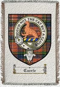 Currie Clan Macpherson Clan Badge Throw Blanket