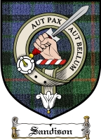 Sandison Clan Badge / Tartan FREE preview