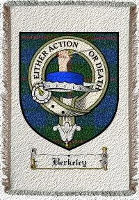 Berkeley Clan Badge Throw Blanket