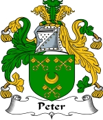 Peter Family Crest / Peter Coat of Arms JPG Download