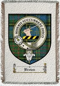 Brown Clan Macmillan Clan Badge Throw Blanket