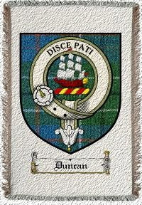 Duncan Clan Badge Throw Blanket