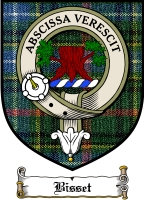 Bisset Clan Fraser Clan Badge / Tartan FREE preview