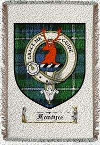 Fordyce Clan Badge Throw Blanket