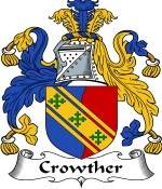 Crowther Family Crest / Crowther Coat of Arms JPG Download