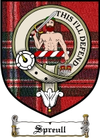 Spreull Clan Badge / Tartan FREE preview