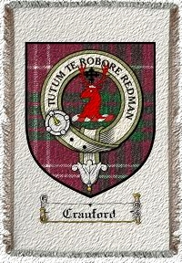 Crauford Clan Badge Throw Blanket