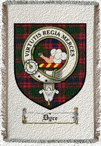 Dyce Clan Badge Throw Blanket
