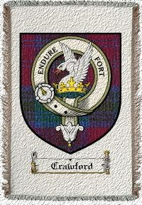 Crawford Clan Lindsay Clan Badge Throw Blanket