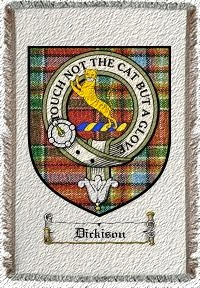Dickison Clan Badge Throw Blanket