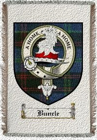 Buncle Clan Badge Throw Blanket