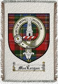 Maclergan Clan Badge Throw Blanket
