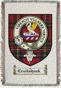 Cruikshank Clan Badge Throw Blanket