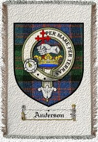 Anderson Clan Macdonald Clan Badge Throw Blanket