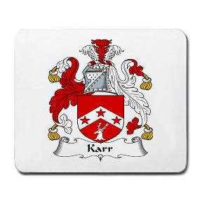 Karr Coat of Arms Mouse Pad