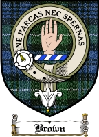 Brown Clan Macmillan Clan Badge / Tartan FREE preview