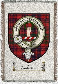 Anderson Clan Ross Clan Badge Throw Blanket