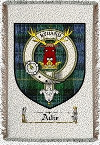 Adie Clan Badge Throw Blanket