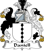 Daniell Family Crest / Daniell Coat of Arms JPG Download