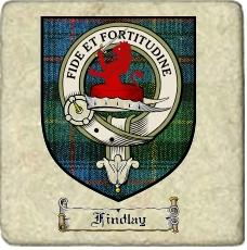 Findlay Clan Badge Marble Tile