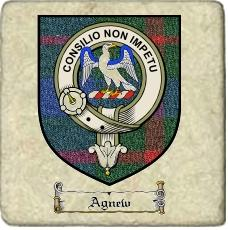 Agnew Clan Badge Marble Tile