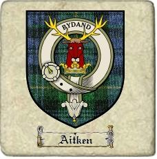 Aitken Clan Badge Marble Tile