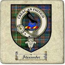 Alexander Clan Macdonnell Clan Badge Marble Tile