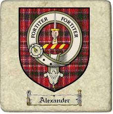 Alexander Clan Badge Marble Tile