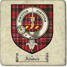 Alistair Clan Badge Marble Tile