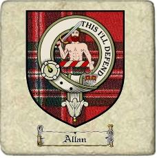 Allan Clan Macfarlane Clan Badge Marble Tile