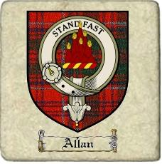 Allan Clan Badge Marble Tile