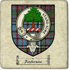Anderson Clan Badge Marble Tile