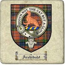 Archibald Clan Badge Marble Tile