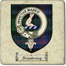 Armstrong Clan Badge Marble Tile