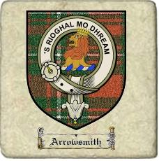 Arrowsmith Clan Badge Marble Tile