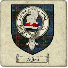 Ayton Clan Badge Marble Tile