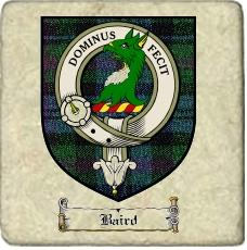 Baird Clan Badge Marble Tile