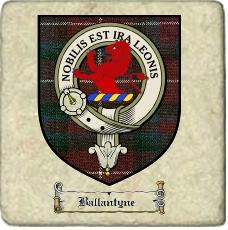 Ballantyne Clan Stuart Clan Badge Marble Tile