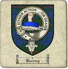 Barclay Clan Badge Marble Tile