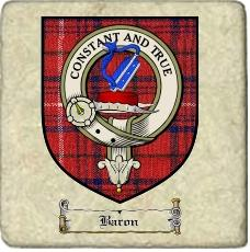 Baron Clan Badge Marble Tile