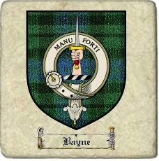 Bayne Clan Mackay Clan Badge Marble Tile