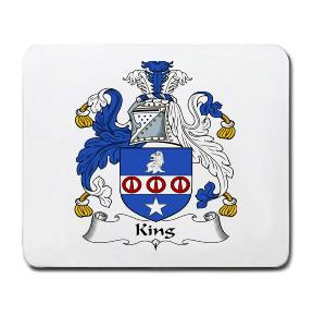 King Coat of Arms Mouse Pad