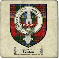 Beaton Clan Maclean Clan Badge Marble Tile