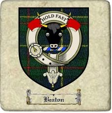 Beaton Clan Macleod Clan Badge Marble Tile