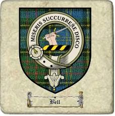 Bell Clan Badge Marble Tile
